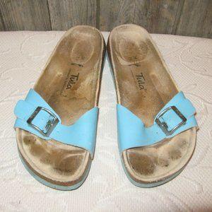 Birkenstock Tula Madrid Women Teal Slides Sandals